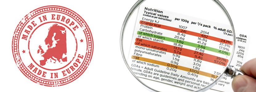 Resultado de imagen de etiquetas union europea